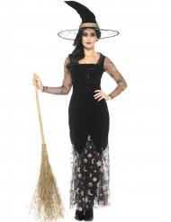 Zauberhafte Hexe Damen-Kostüm schwarz-gold