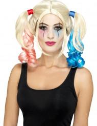 Perücke Harlekin blond für Damen