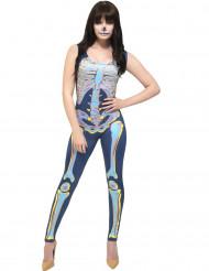 Damen-Kostüm - Skelett - mehrfarbig