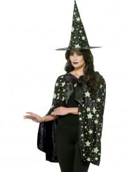 Set Witch Mitternacht Glow Damen Halloween