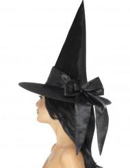 Schwarzer Hut mit Schleife für Damen