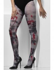Blutige Zombie-Strumpfhose für Erwachsene