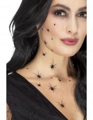 Schaurige Spinnen-Tattoos Aufkleber schwarz