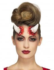 Latex prothetische Hörner des Teufels Erwachsene Halloween