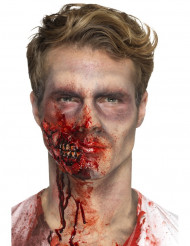 Zombie-Kiefer Effekt Make-up Halloween-Wunde rot