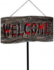 Willkommens-Schild zum Dekorieren