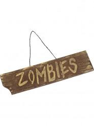 Schild zum Aufhängen Zombies 40x10 cm Halloween