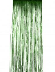 Grüner Vorhang mit Glitzer