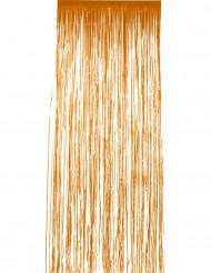 Oranger Vorhang mit Glitzer