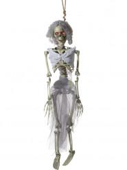 Hängedeko animiertes Braut-Skelett 90 cm Halloween