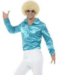 Herren-Hemd mit Satin-Effekt hellblau