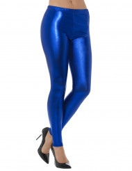 Blau Metallic Leggings Erwachsene