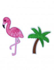 2 Stifte Flamingo und Palme