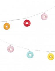 Donut-Girlande 2,6m bunt Partyzubehör