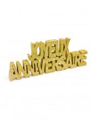 Tischdekoration zum Geburtstag in goldfarben