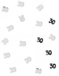 Silbernes Tischkonfetti 30 Jahre 10g