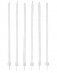 16 weiße Kerzen mit Kerzenhalter 12cm