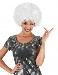 Weisse Afroperücke für Erwachsene