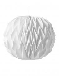 Weiße Origami-Kugel zum Aufhängen 28x37 cm