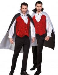 Umhang Schwarz-Weiß-wendbar Erwachsene Halloween