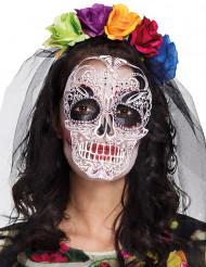 Kostümset mit Maske und Haarreif Dia de los Muertos