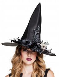 Hexenhut Totenschädel Damen Halloween
