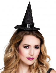 Mini Hexenhut schwarz Damen Halloween
