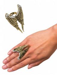 Goldener Ring Engelsflügel für Erwachsene
