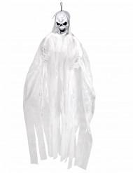 Hängedekoration weißes Halloween Skelett 150 cm