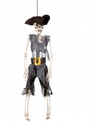 Halloween-Puppen-Dekoration - Piraten-Skelett zum Aufhängen - 40 cm