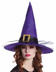 Hexenhut aus Samt für Erwachsne violett