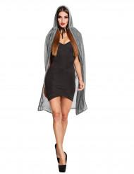 Stilvoller Umhang Halloween-Kostümzubehör grau