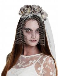 Stirnband mit Schleier White Zombie Damen Halloween