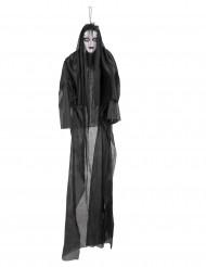 Schwarze Dame Dekofigur mit Licht und Sound 150 cm