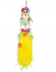 Hänge-Deko Skelett Hawaii 90 cm Halloween