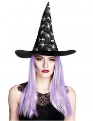 Hexenhut Spinne mit Haaren Damen Halloween