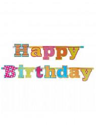 Happy Birthday Girlande bunt 166cm