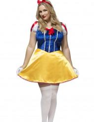 Sexy Plus Size Prinzessinnen-Kostüm Damen gelb-blau