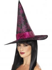 Schwarzer Hexen Hut mir rosa Pailletten