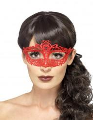 Maske mit Spitz in Rot
