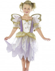 Kostüm Fee violett-gold Luxus Mädchen