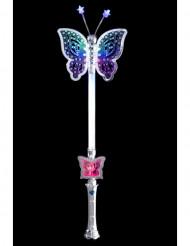 Schmetterling Zauberstab für Kinder mit LED bunt 40cm
