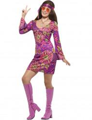 Hippie Kostüm lila Damen