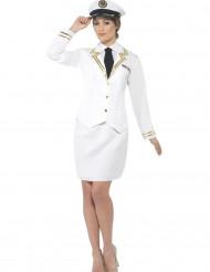 Offizier Kostüm weiß Damen