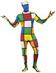 Zauberwürfel Kostüm zweite Haut ™ Herren