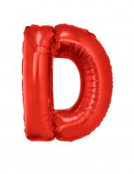 Folienballon rot Buchstabe D 102 cm