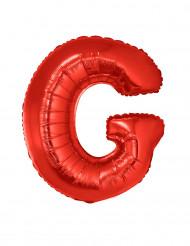 Folienballon rot Buchstabe G 102 cm