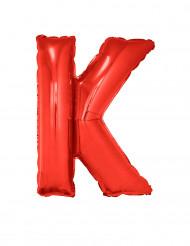 Folienballon rot Buchstabe K 102 cm