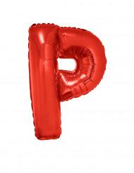 Folienballon rot Buchstabe P 102 cm