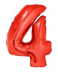 Riesiger Folienballon Ziffer 4 102 cm